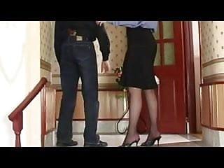 Black skirt sex Black skirt strapon fuck