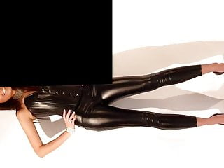 Shiny latex orgasm free video Sexy tight shiny outfit with heels