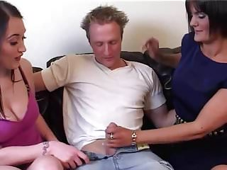 How to suck penis British stepmom teaches stepdaughter how to suck and fuck