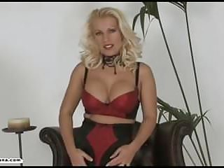 Shoe fucking - Horny blonde milf fucks hungry wet pussy with high heel shoe