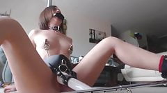 Amateur BDSM Multiple Orgasms Hitachi Belt