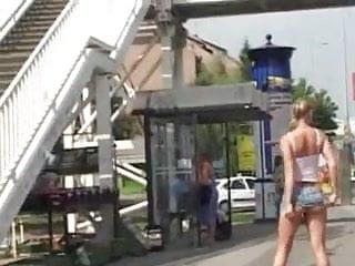 Slut nude lassalle secondary Nude in public blonde british slut