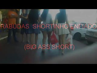 Big ass short shorts - Rabudas de shortinho enfiado big ass short 363