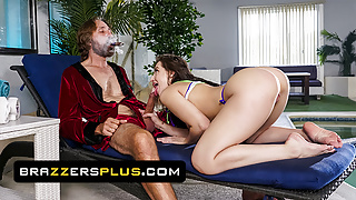 Pretty Babe Aubree Valentine Rides An Old Man And Gets His Seed
