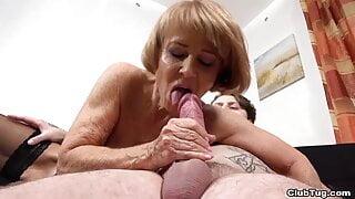 68 year old Granny Gives a Handjob