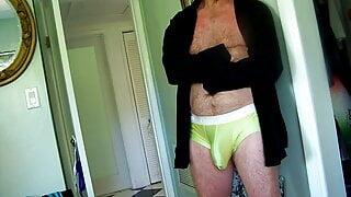 bulging in dress shirt and pants