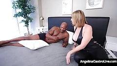 Фигуристые горячие крошки Angelina Castro и Sara Jay Bang с черным членом!