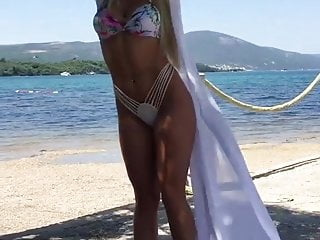 Bikini man mini - Hot serbian milf in mini-bikini at the beach