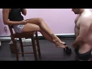 Lick by joi Loser cumming on princess feet and licking it up