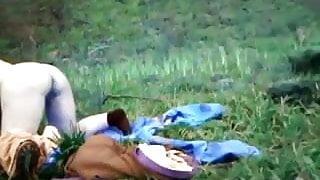 Scottish, Ayrshire BBW fucked doggy style outdoors