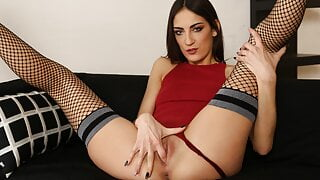 Miky Love Gets Soaked In Her Own Piss