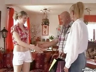 Mom or dad decides sex - Old mom and dad envolve her into sex