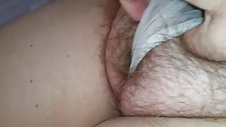 wifes hairy pussy in see through pantys, cameltoe