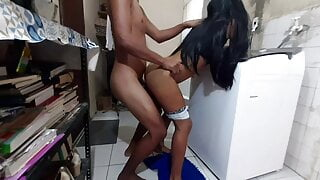 Coming out of the shower and fucking with young cousin