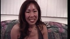 asian milf strips blows and fucks