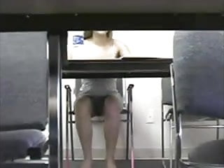 Panties upskirt galleries - Blue panties upskirt