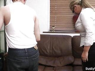 Lick pussy who woman Busty woman in uniform riding cock after pussy licking