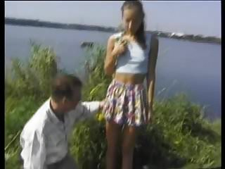 Young outdoor porn - Stp4 skinny teen enjoys a fuck al fresco