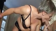 Sophie, french mature dped in stockings
