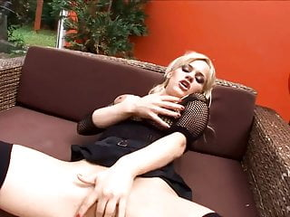 Sex in breakroom Busty blonde milf has sex in thigh high stockings