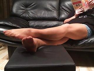 Long pantyhose tube Mystepmom long nylon stockings footplay
