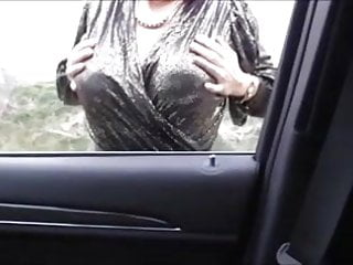 Video boobs mister - Misterous big boobs mature in the car