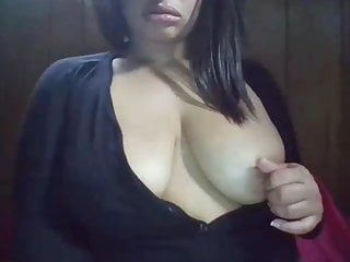 Big tits in thight sweaters Ebony girl huge natural tits in sweater rubbing pussy