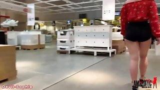 Devil-Sophie: Heavy public blowjob in the furniture store