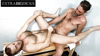 Hairy Pup Surprises Silver Daddy & Gets Drilled