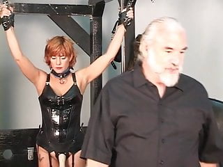 Tits redhead older flash - Older man tortures his redead brunette and blonde bdsm slaves on rack