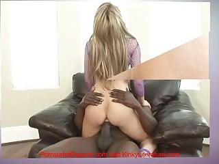 Swallowing big black cum Big black boner buried in blondes beautiful butt