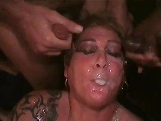 Massive tits group fucking party Slutronas massive cum party continued