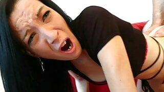 Pretty brunette – hardcore double penetration