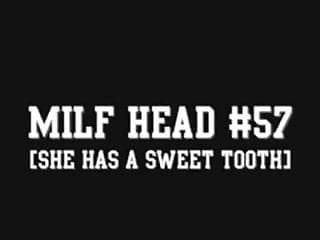 Retainer sexy tooth Milf head 57 she has a sweet tooth