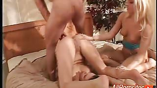 Threesome Ends With Messy Cumshots