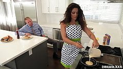 Brunette Housewife Victoria Voxxx Prepares Her Ass For Anal