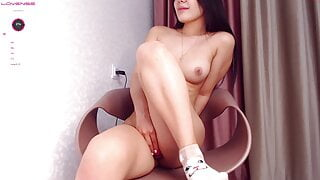 Asian woman is fucked hard in her sweet pussy