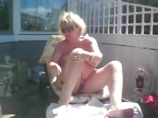 Wife shaving cock Wife shaving outdoors