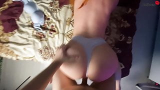 Girlfriend Sensually Sucking Stranger's Dick, Doggystyle