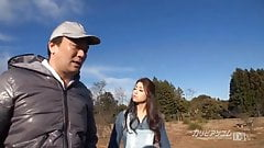 MILF Maki gives outdoor blowjob