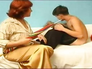 Young boy and mature lady sex - Old lady fucking a young boy