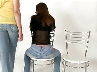 Bdsm straight male bottom Whipped on jeans and bare bottom