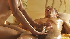 Turkish massage, exotic blonde and a big cock