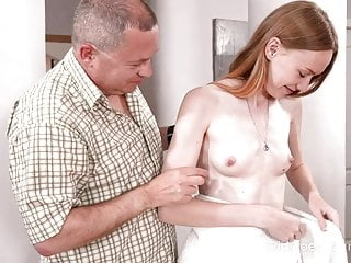 Small cock fucking pussy Skinny babe asks uncle for help and gets a fuck