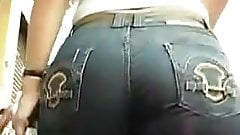 phat booty jeans latina candid street