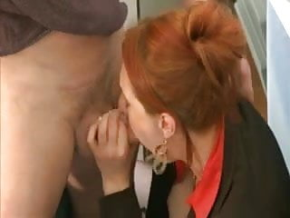 Sexy woman in business suit Milf redhead in business suit slammed