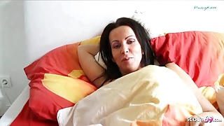 German Son Wakes up Step Step Mom and Seduces her to Fuck