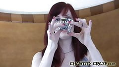 Your cock should be locked in a metal chastity device