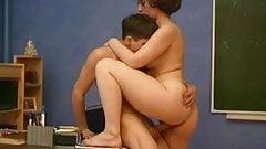 MILF teacher seduces young student