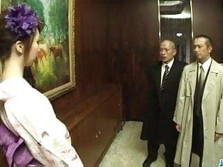 Best deal vibrator - Kimono girl, rinka kanzaki, deals two massive cocks